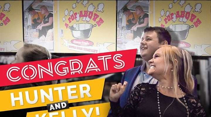 Congrats to our friends Hunter and Kelly at A Pop Above Kettle Corn