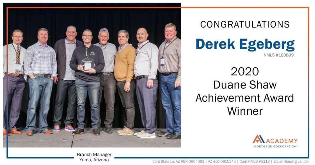 Derek Egeberg Awards